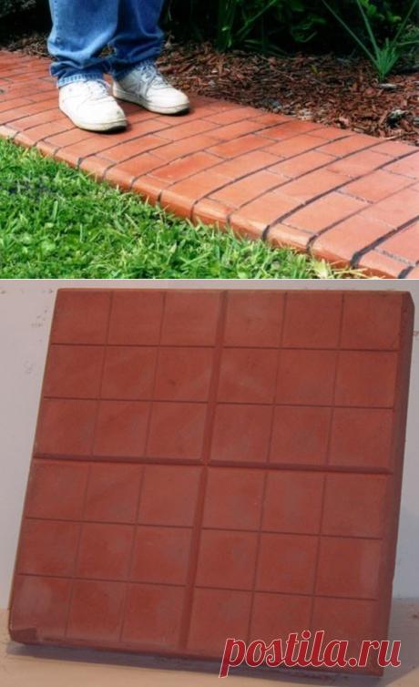 Дорожки на даче из тротуарной плитки своими руками