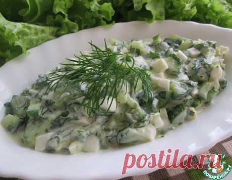Огуречный салат по-гречески – кулинарный рецепт