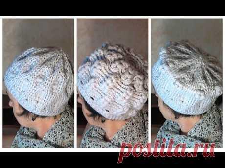 Вязаная шапка для женщин 50+ Три шапки в одной