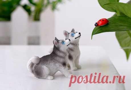 Для поклонников хаски миниатюрные фигурки для декора  https://s.click.aliexpress.com/e/scL7zaXW?product_id=..  #хаски