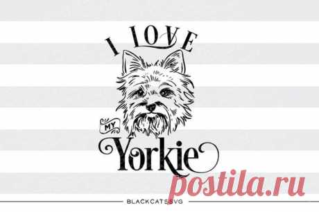 I love my Yorkie -  SVG file Cutting File Clipart in Svg, Eps, Dxf, Png for Cricut & Silhouette - I love my Yorkshire Terrier I love my Yorkie - SVG file I love my Yorkshire Terrier This is not a vinyl, the file contains only digital files, and no material items will be shipped. This is a digital download of a word art vinyl decal cutting file, which can be imported to a number of paper crafting programs like Cricut Explore, Silhouette and so