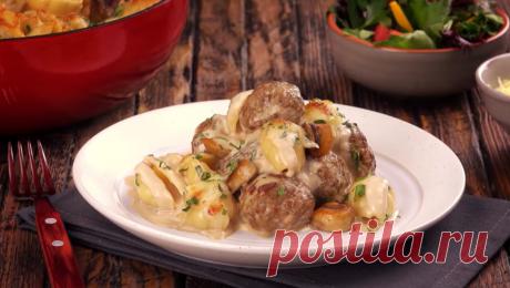 Макароны с фрикадельками и грибами в сливочном соусе: простейший рецепт. Иногда так хочется расслабиться, не колдовать у плиты и съесть что-нибудь вкусное, сытное, но простое. И вариантов очень много! Как вам, например, вот такие макароны с мясом?..