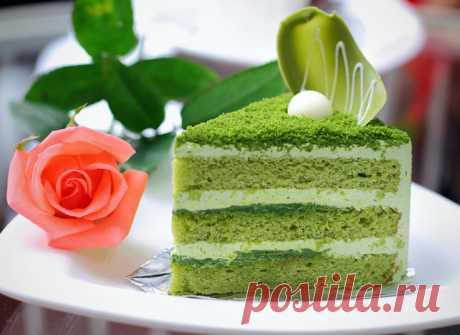 Бисквитный торт: попробуй экзотику зеленого цвета - tochka.net