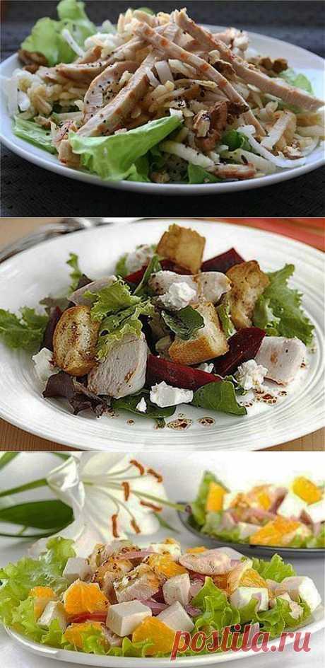 Салаты с куриной грудкой: 7 рецептов на каждый день / Простые рецепты