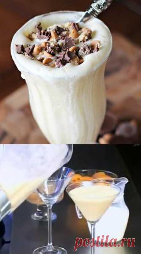 Молочный коктейль с консервированными абрикосами