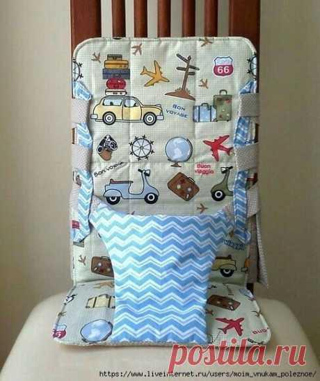 Как сшить удобное детское кресло из ткани на стул