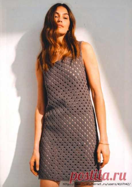 Стильное летнее платье крючком — HandMade