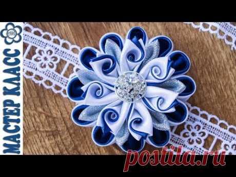 Цветы Канзаши Крученые лепестки ✄ Kulikova Anastasia