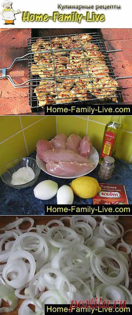 Шашлык - пошаговый фоторецепт - шашлык из куриной грудки | Кулинарные рецепты