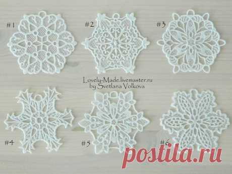 Снежинки белоснежные и не только. Кружево. Snowflake lace – купить на Ярмарке Мастеров – 502BNRU | Елочные игрушки, Челябинск