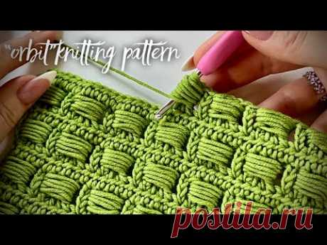 Такого вы еще не видели! Вяжем простой плед / ковер подушечками «ORBIT»💥💥💥 knitting pattern