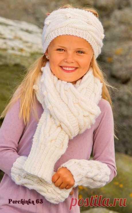 Модный набор спицами для девочек - Perchinka63