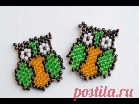 Brick weaving. An owl from beads. #Бисероплетение.