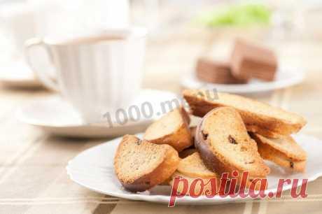 Сухари с изюмом рецепт с фото - 1000.menu