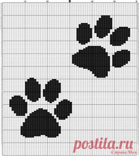 Орнамент кошки для вязания. - Вязание спицами - модели - Каталог статей - Вязание спицами и крючком.