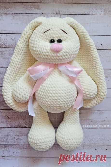 Заяц крючком — Красивое вязание
