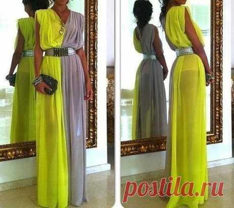 Очень простое платье для неумеющих шить / Простые выкройки /