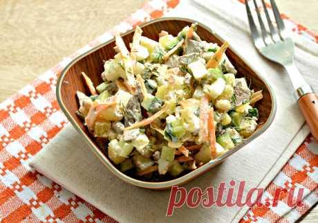 Картофельный салат с овощами и печенью - рецепт с фото пошагово