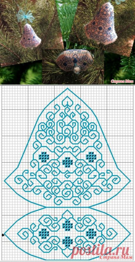 бискорню колокольчик схемы вышивки простые крестом