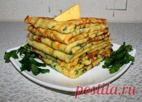 Как приготовить сырные блинчики с петрушкой - рецепт, ингредиенты и фотографии