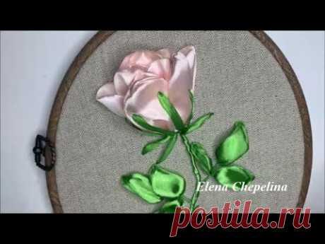 Очень простая розаиз атласной ленты своими руками.