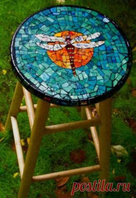 Мозаика в саду своими руками