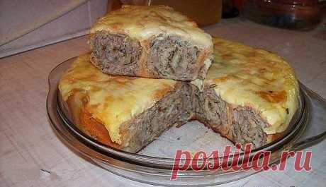 Мясной пирог из лаваша.