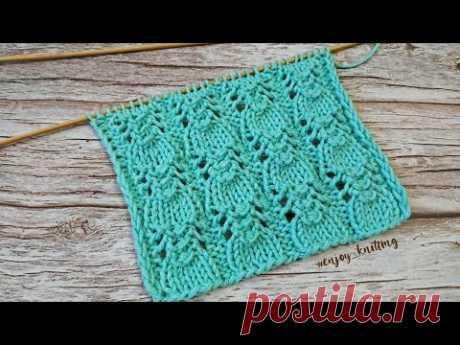 НЕЖНЫЙ Ажурный Узор спицами | Lace and romantic knitting pattern