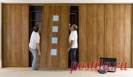 Двери для шкафа купе своими руками: конструкции, пошаговая инструкция по сборе, монтажу + видео