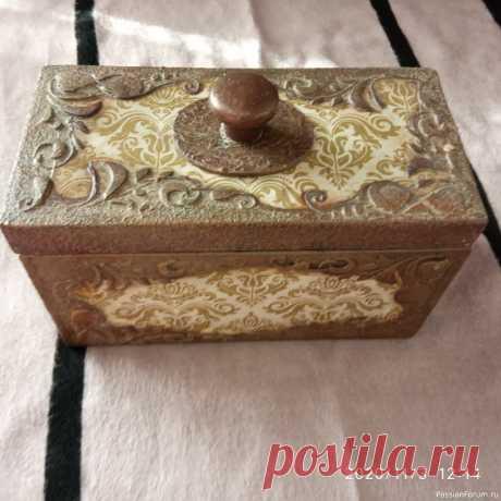 Коробка для пуговиц. | Декупаж. Работы пользователей