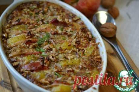 Запеканка картофельная с яблоками и орехами - кулинарный рецепт