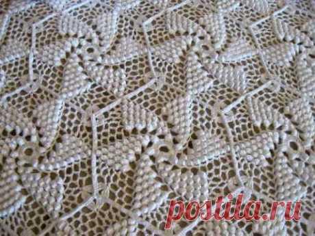 Crocheted Popcorn Pinwheel Bed Spread by Frances Johnson - YouTube