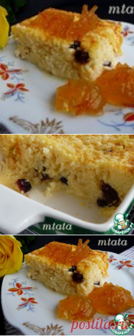 Millet baked pudding - the culinary recipe