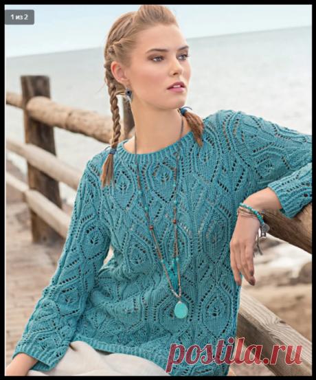 Вяжем красивые ажурные пуловеры: 6 нежных моделей спицами!.
