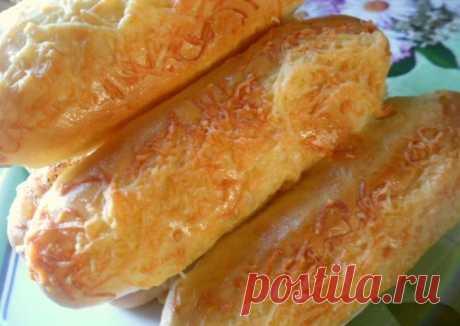Вкусный багет с сыром (простая выпечка)