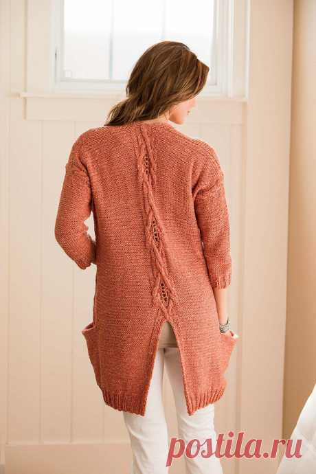Knitting of a cardigan of Coralline, Interweave knits summer 2014