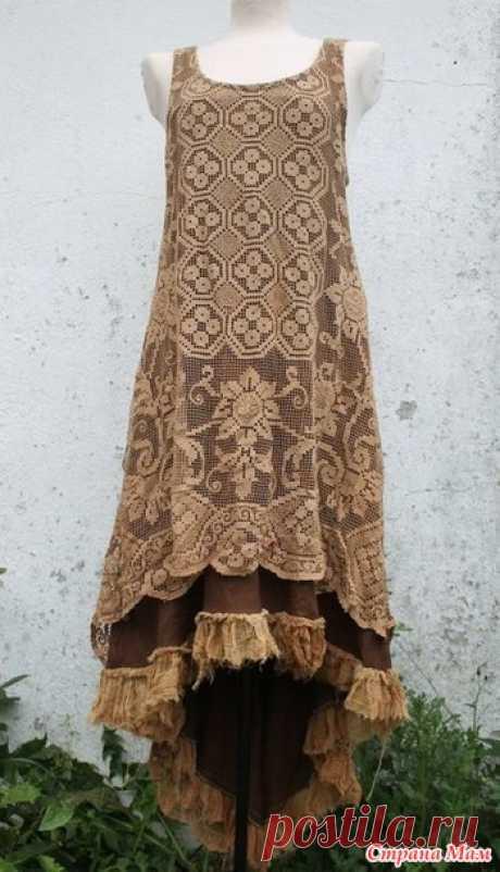 Сарафан-филейное вязание. Подберём схемы? (дополнена схемой) от Графиня Aristova