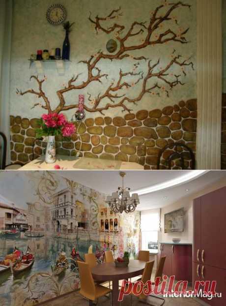 Декорирование стен на кухне | Наш уютный дом