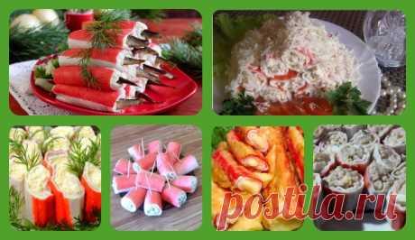 Фаршированные крабовые палочки - рецепты с разными начинками