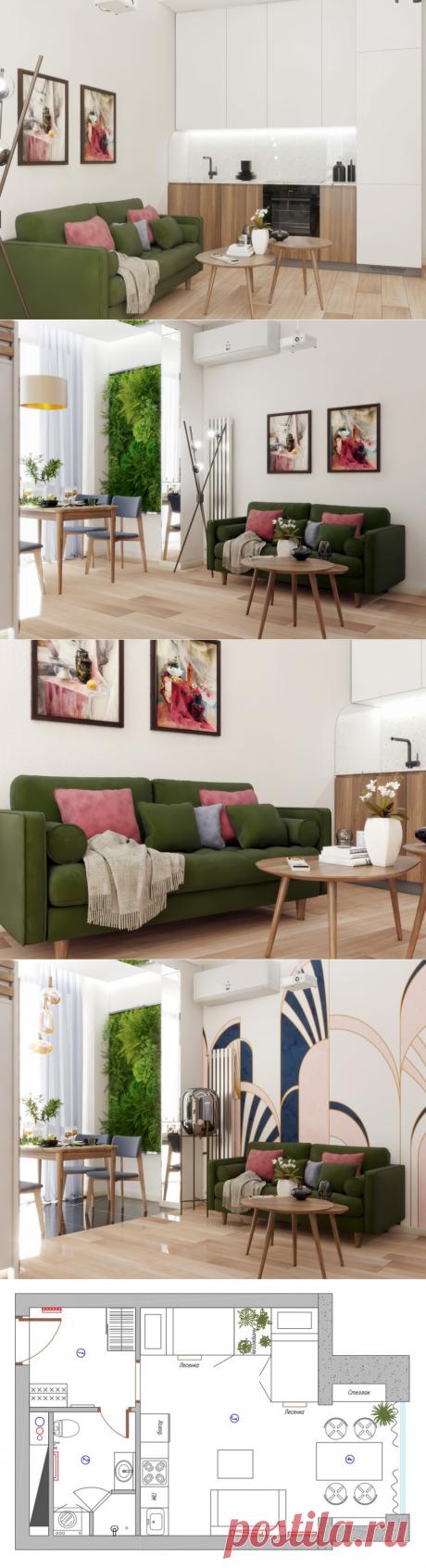 Интерьер: удобная и невероятно стильная квартира 30 кв. м | Уютная Квартира | Яндекс Дзен