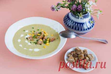 Крем-суп из брокколи со сливками и кукурузой – пошаговый рецепт с фото.