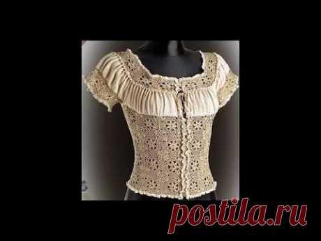 Комбинирование ткани и вязания. Идеи для работ