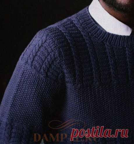Сдержанный мужской пуловер выполнен в традициях нидерландских рыбаков от дизайнера Jessie McKitrick