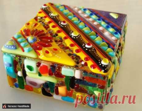 Шкатулка из художественного стекла купить в Беларуси HandMade, цены в интернет магазинах