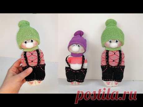 Идеи красивой куклы из носка своими руками