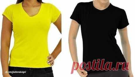 Женская футболка из трикотажа, выкройка (Шитье и крой) – Журнал Вдохновение Рукодельницы