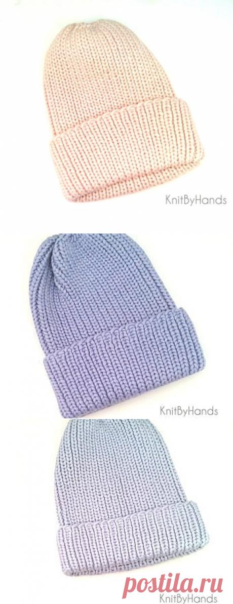 Mütze. Frauen Аutumn warme stricken Hut im freien Streifen | Etsy