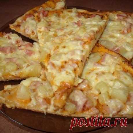 """Пицца """"Гавайская"""". Блюдо получается обалденное"""