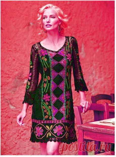 Перуанские платья + схемы - Дизайнерский трикотаж — LiveJournal