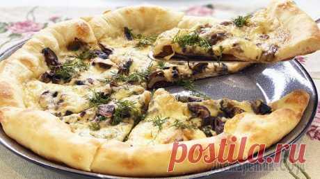 Настоящая пицца, как в Италии - все секреты приготовления   Пицца с грибами
